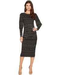 Nicole Miller - Elizabetta Dotted Stripes Long Sleeve Jersey Dress - Lyst