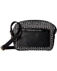 168ae9196c0 Tommy Hilfiger Rhodes Convertible Crossbody (black) Cross Body Handbags in  Black - Lyst