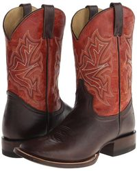 """Stetson - 11"""" Shaft Double Welt Wide Square Toe Boot - Lyst"""