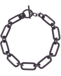 Michael Kors - Iconic Pave Link Statement Necklace - Lyst
