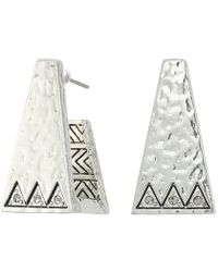 House of Harlow 1960   Golden Scutum Trapizoid Earrings   Lyst