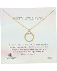 Dogeared - Pretty Little Pearls, Ring With Bezeled Pearl Necklace - Lyst