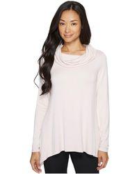 Ivanka Trump - Cowl Neck Knit Long Sleeve Pullover Shirt - Lyst