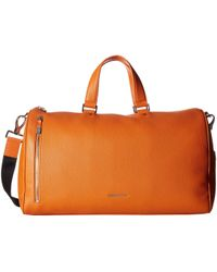 Bugatchi - Pebble Leather Full Grain Leather Weekender Duffel Bag - Lyst