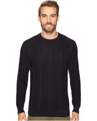 Lacoste - Long Sleeve Resort Cotton Cable Crew Neck - Lyst
