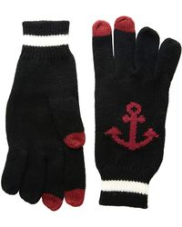 San Diego Hat Company - Kng3480 Knit Gloves With Anchor And Tech Fingertips - Lyst