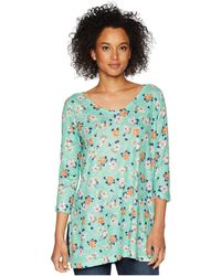 Nally & Millie - Mint Green Floral Print Tunic - Lyst