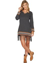 Scully - Galatea Fringe Bottom Embroiderd Dress - Lyst