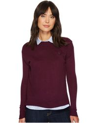 U.S. POLO ASSN. - Solid Waffle And Woven Twofer Sweater - Lyst