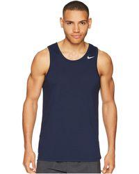 07c95a5f77417 Lyst - Nike Men s Dry Elite Basketball Tank Top in Blue for Men
