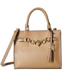 9b695705f5cc Michael Kors Vivian Medium Woven Embossed-leather And Suede ...