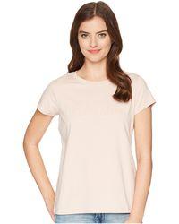 Calvin Klein - Short Sleeve Tee W/ Middle Logo - Lyst