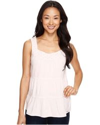 U.S. POLO ASSN.   Tiered Cambric And Eyelet Tank Top   Lyst