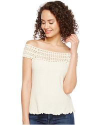 Scully - Cantina Talia Organic Cotton Off The Shoulder Top - Lyst