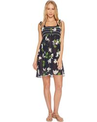Robin Piccone - Elisa Sheer Babydoll Dress Cover-up - Lyst