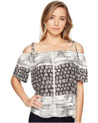 Michael Stars - Charlotte Print Off The Shoulder Top - Lyst