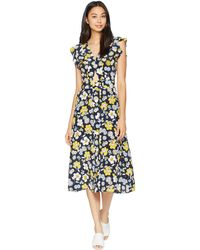 Juicy Couture - Silk Garden Floral Midi Dress - Lyst