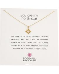 Dogeared - You Are My North Star, Open North Star Necklace - Lyst