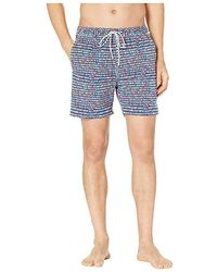 6599adf15b6ea Psycho Bunny - Dash Swim Trunks (blue Print) Swimwear - Lyst