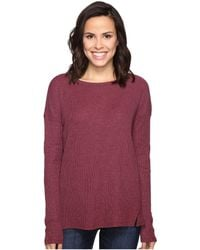 Brigitte Bailey | Keely Long Sleeve Top With Front Slits | Lyst