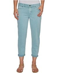 Liverpool Jeans Company - Riley Relaxed Crop In Stretch Peached Twill In Slate Blue - Lyst