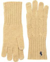 Polo Ralph Lauren - Cashmere Blend Classic Cable Knit Gloves - Lyst