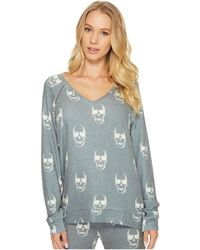 Pj Salvage - Love You To Death Skull Sweater - Lyst