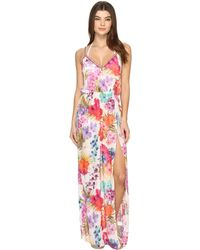 Nicole Miller - La Plage By Braided Tank Maxi Cover-up - Lyst