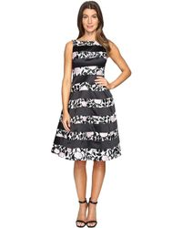 d992e16649 Lyst - Adrianna Papell Lace Boatneck Dress in Purple