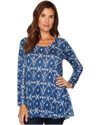 Nally & Millie - Blue Ikat Print Tunic - Lyst