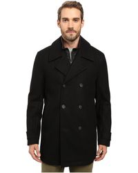 Marc New York - Cushing Pressed Wool Peacoat W/ Removable Quilted Bib - Lyst