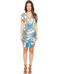 Just Cavalli - Temptation Printed Short Sleeve Dress - Lyst