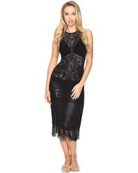 Jets by Jessika Allen | Intrigue High Neck Fringed Maxi Dress Cover-up | Lyst