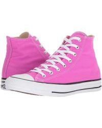 96107015ca36 Lyst - Converse Chuck Taylor® All Star® Seasonal Color Hi in Orange