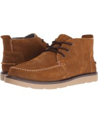 7cd2d03368d Lyst - TOMS Paloma Suede Men s Chukka Boots in Gray for Men