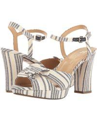 Naturalizer - Adelle Stripe Denim Fabric Dress Sandals - Lyst