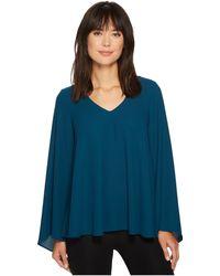 09bef9bfc5593 Lyst - Karen Kane Flare Sleeve Hi-lo Top in Blue - Save 35%