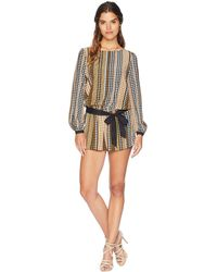 7c46fc7bba11 Juicy Couture - Silk Northside Houndstooth Romper - Lyst