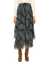 See By Chloé - Crepon Paisly Maxi Skirt - Lyst