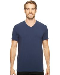 Kenneth Cole - Cotton Spandex V-neck Tee - Lyst