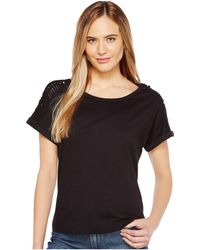 B Collection By Bobeau - Nash Macrame Detail T-shirt - Lyst