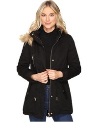 Brigitte Bailey - Patience Polyfilled Jacket W/ Faux Fur Hood - Lyst