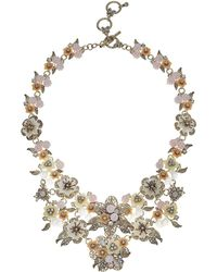 Marchesa - Force Of Nature 16 In Flower Drama Runway Collar Necklace - Lyst