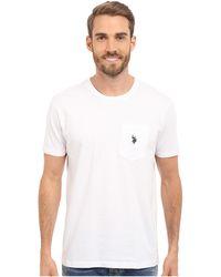 U.S. POLO ASSN. - Solid Crew Neck Pocket T-shirt - Lyst