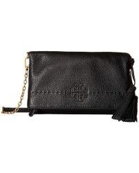 c29d0554d396 Tory Burch - Mcgraw Chain Fold-over Crossbody (black) Cross Body Handbags -