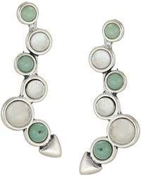 Lucky Brand - Set Stone Ear Crawler Earrings - Lyst