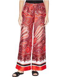 aca5c9852c3 Lyst - Lauren by Ralph Lauren Plus Size Wideleg Linen Pants in White