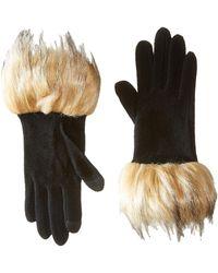 Lauren by Ralph Lauren - Long Gloves W/ Faux Coyote Fur - Lyst