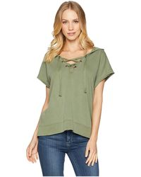 Sanctuary - Beach Comber Lace-up Hoodie - Lyst
