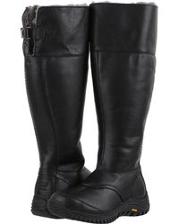 66d86ed12c8 Lyst - UGG Women's Miko Waterproof Leather Tall Boot in Black